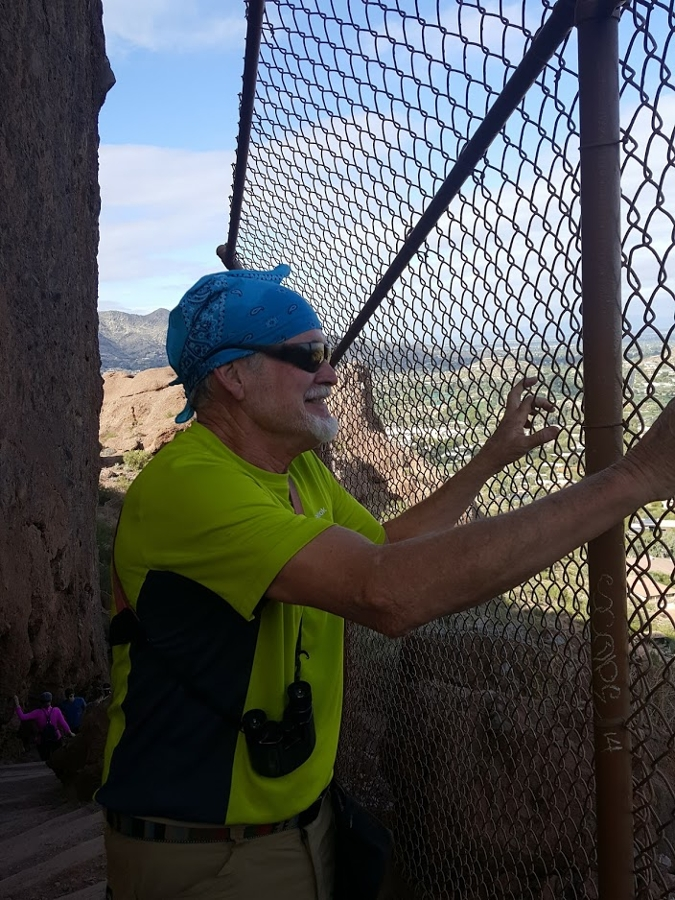 The Camelback Mountain trails are steep, challenging and treacherous as this Wild Bunch hiker discovered.