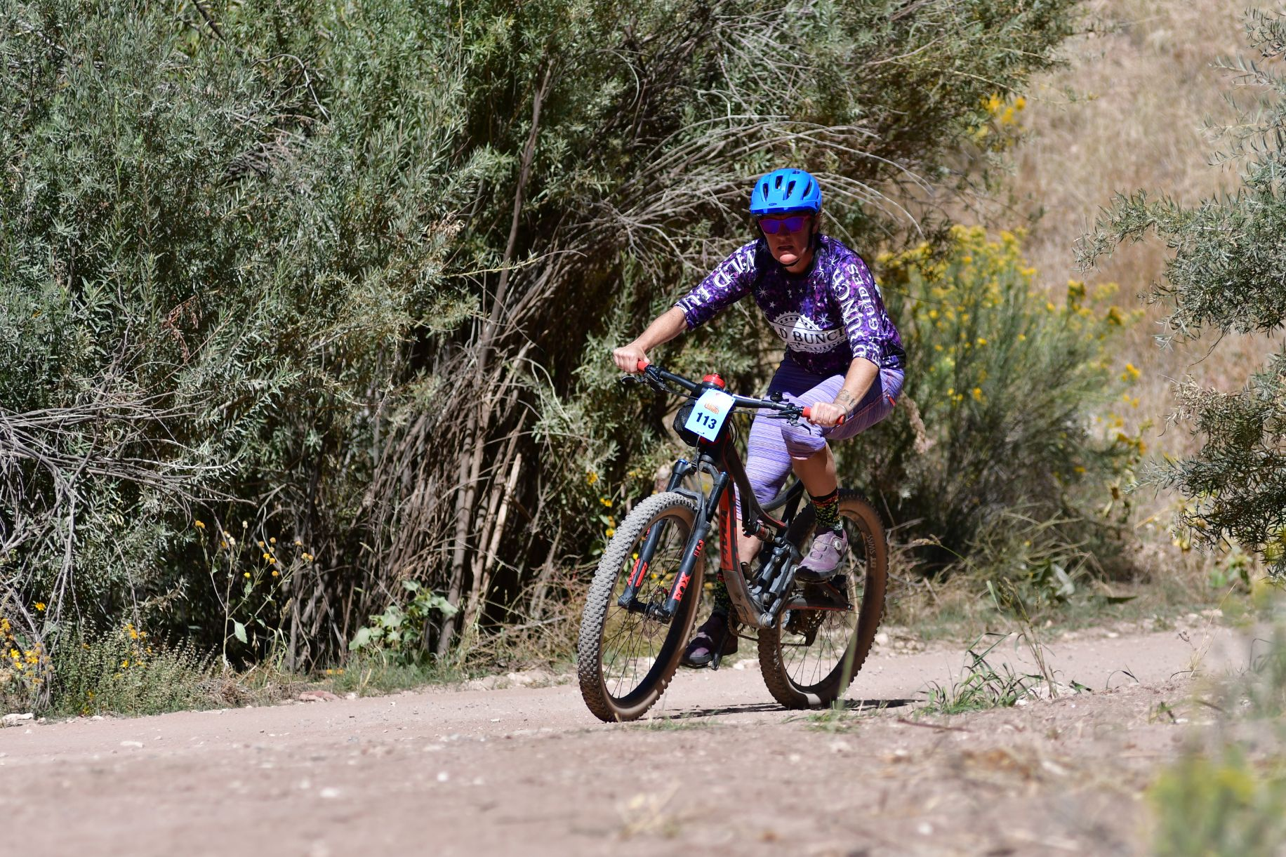 Laurel Darren comes flying around a turn during the Canon City Crippler mountain bike race Sept. 25 in Colorado.