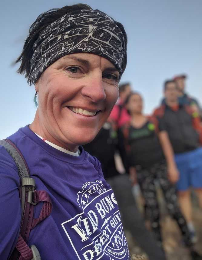 Wild Bunch Desert Guides owner Laurel Darren flashes a big smile after another successful Phoenix adventure tour.