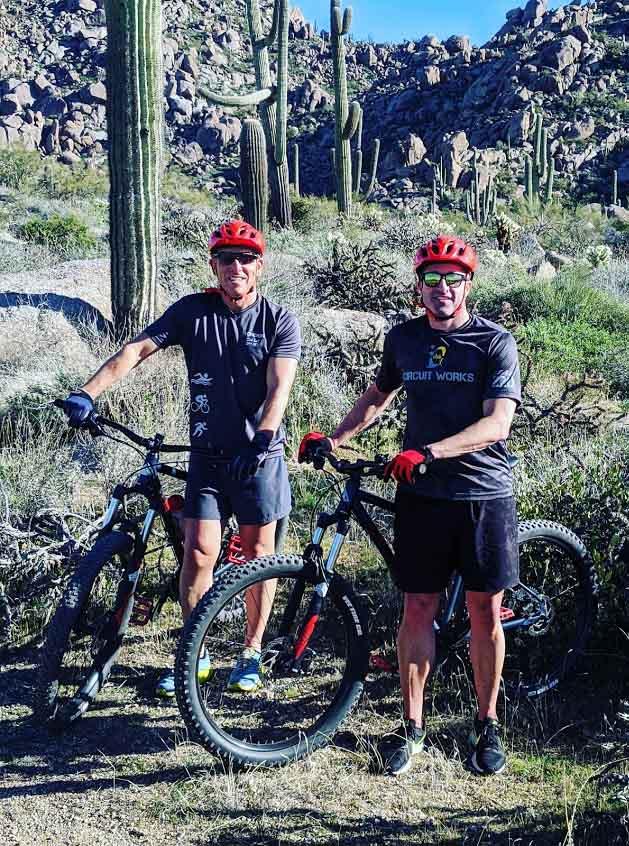 2 Guys on Mountain Bike Tour