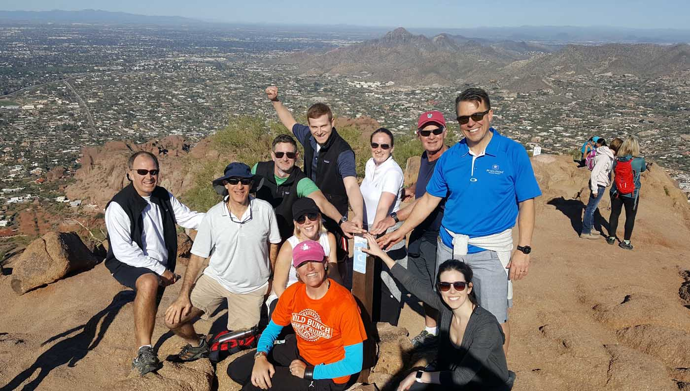 Camelback Mountain Group Hiking Tour Scottsdale AZ