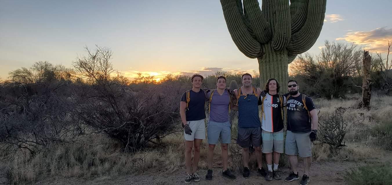 Hiking amongst the Saguaro in the Sonoran Desert